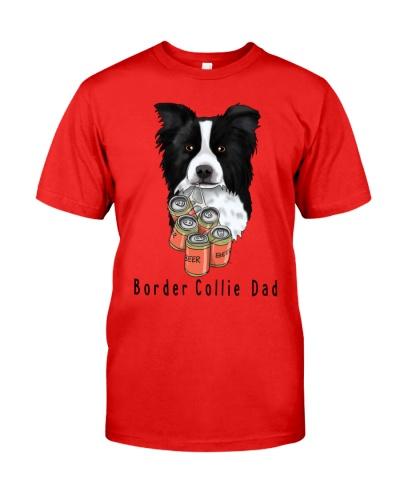 Border Collie beer dad white