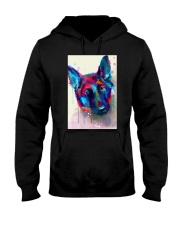 German Shepherd Face Art Flow S50 Hooded Sweatshirt thumbnail