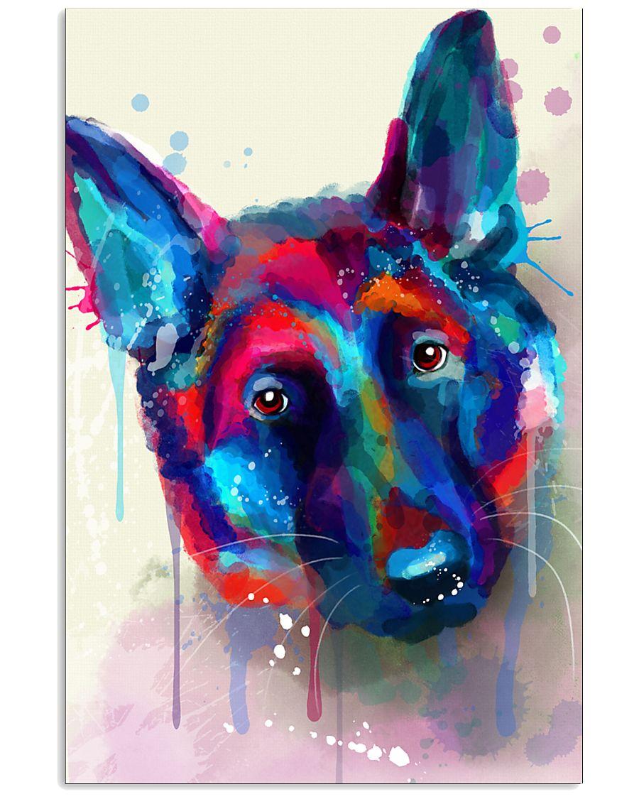 German Shepherd Face Art Flow S50 11x17 Poster