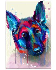 German Shepherd Face Art Flow S50 11x17 Poster front