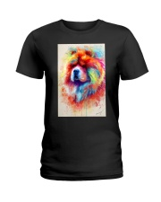 Chow Chow Poster Water Color N2 Ladies T-Shirt thumbnail