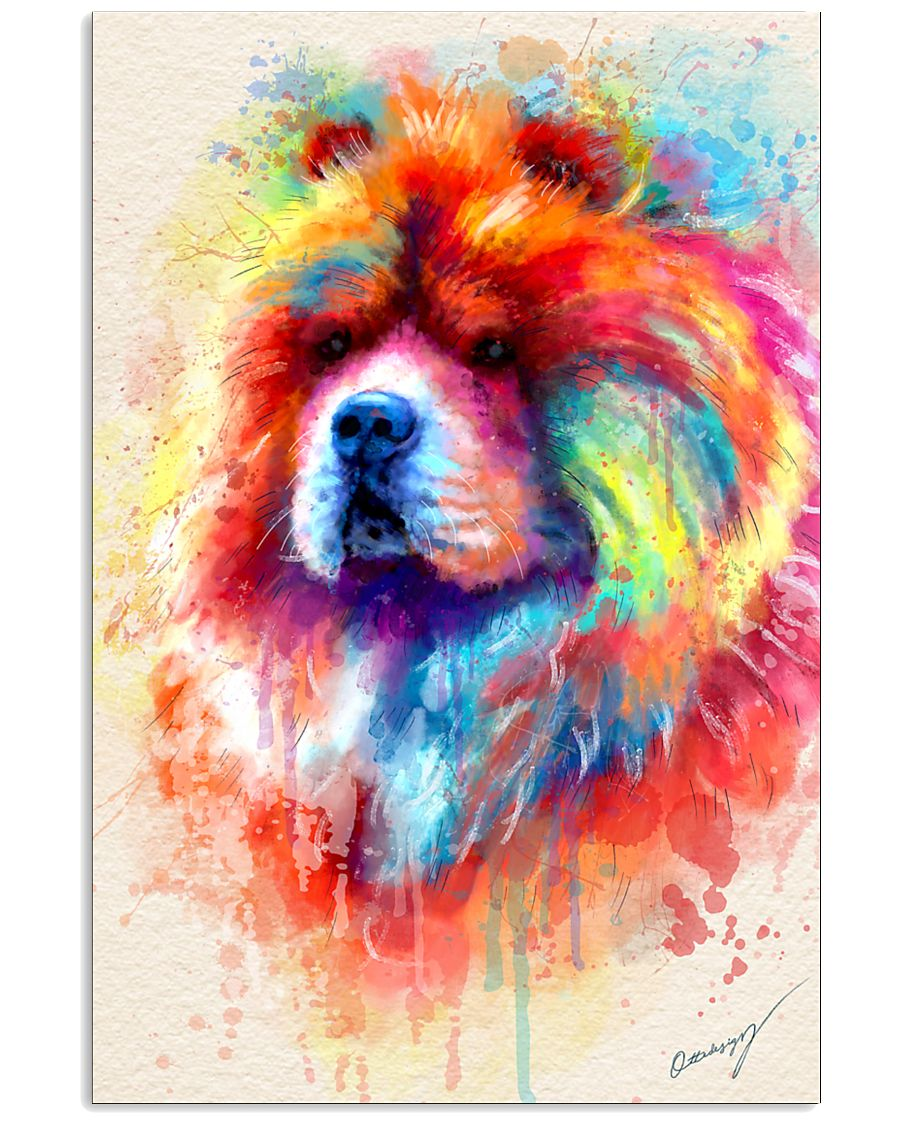 Chow Chow Poster Water Color N2 11x17 Poster