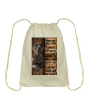 Great Dane  I loved You  Drawstring Bag thumbnail