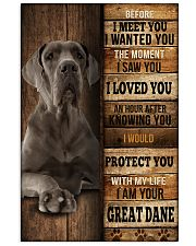 Great Dane  I loved You  Vertical Poster tile