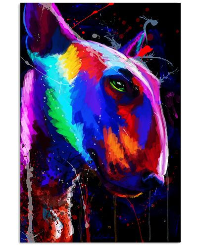 Bull Terrier Water Color Poster
