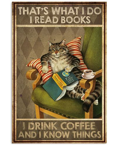 Cat I read books I drink coffee