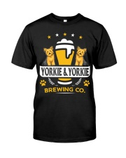 Yorkie and Beer Hoodie  Classic T-Shirt thumbnail