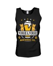 Yorkie and Beer Hoodie  Unisex Tank thumbnail