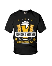 Yorkie and Beer Hoodie  Youth T-Shirt thumbnail