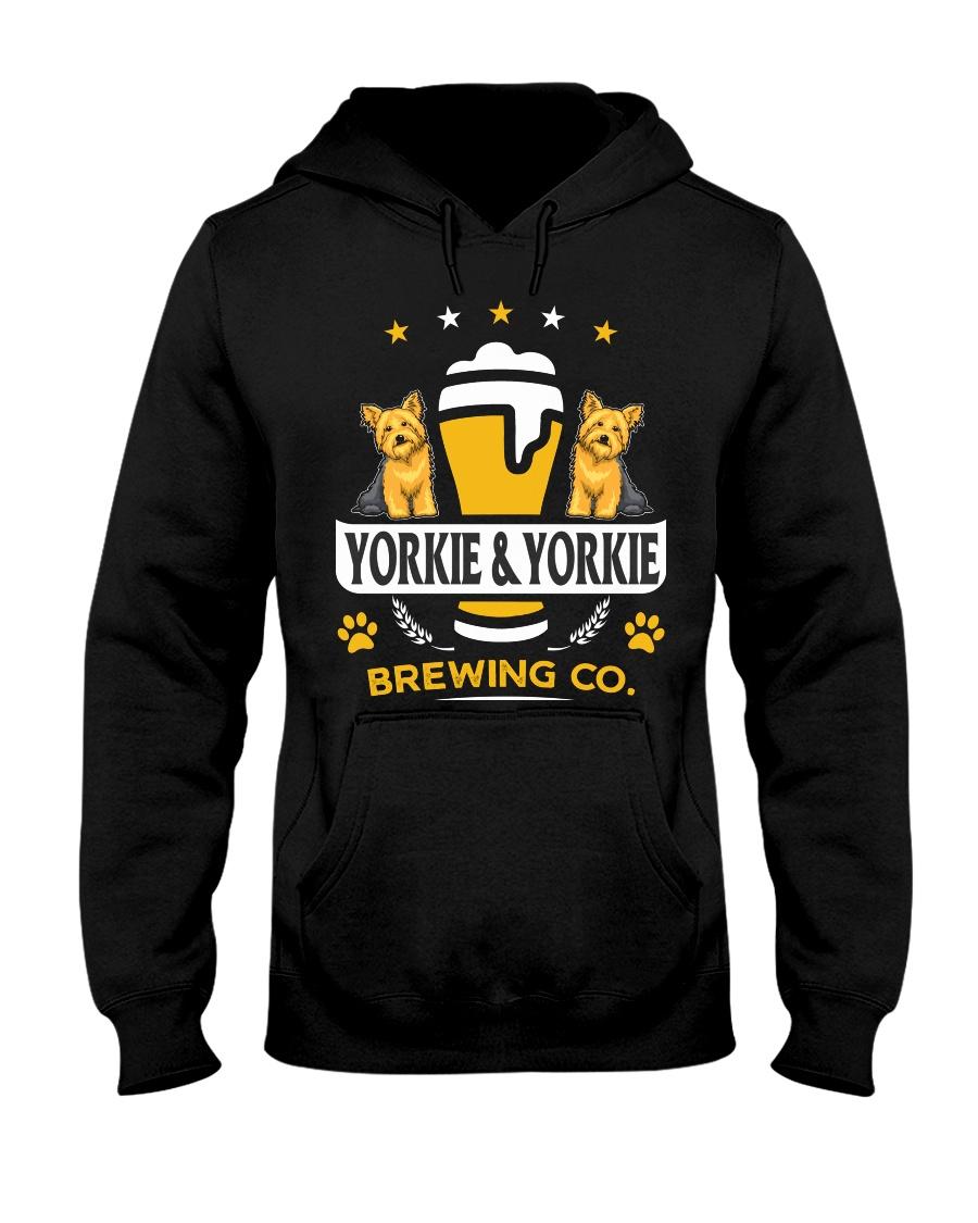 Yorkie and Beer Hoodie  Hooded Sweatshirt