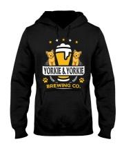 Yorkie and Beer Hoodie  Hooded Sweatshirt front