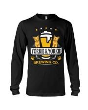 Yorkie and Beer Hoodie  Long Sleeve Tee thumbnail