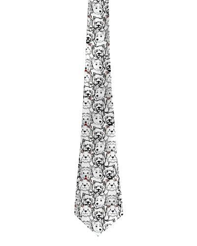 Westie tie pattern