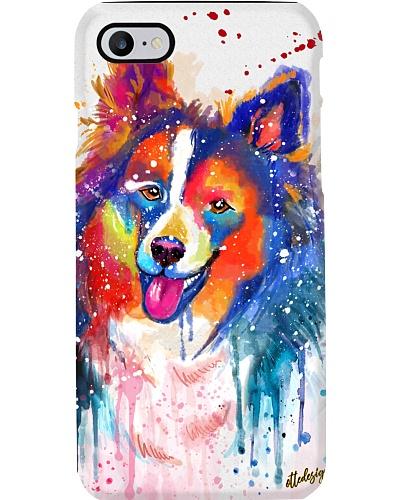 Sheltie Water Color Phone Case