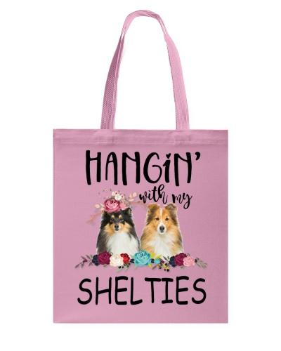 Sheltie Hangin pink