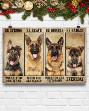 German Sherpherd be strong 36x24 Poster aos-poster-landscape-36x24-lifestyle-25