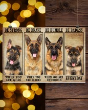 German Sherpherd be strong 36x24 Poster aos-poster-landscape-36x24-lifestyle-26