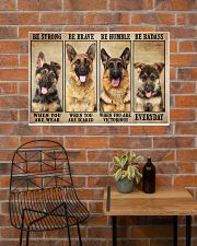 German Sherpherd be strong 36x24 Poster poster-landscape-36x24-lifestyle-20
