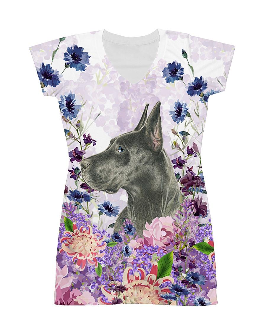 Great Dane Flower All-over Dress