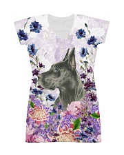 Great Dane Flower All-over Dress front