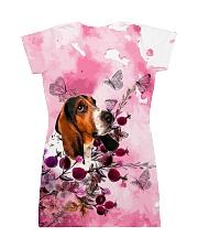 Basset Hound Love Garden All-over Dress back