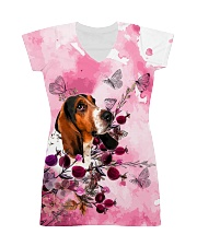 Basset Hound Love Garden All-over Dress front