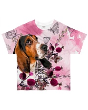 Basset Hound Love Garden All-over T-Shirt thumbnail