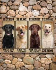 Labrador be strong 36x24 Poster aos-poster-landscape-36x24-lifestyle-14