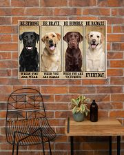 Labrador be strong 36x24 Poster poster-landscape-36x24-lifestyle-20