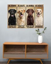 Labrador be strong 36x24 Poster poster-landscape-36x24-lifestyle-21