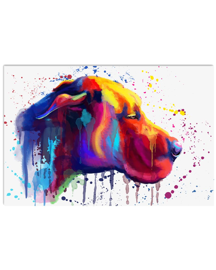 Great Dane Water Color 17x11 Poster