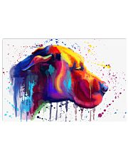 Great Dane Water Color 17x11 Poster front