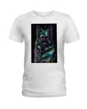 German Shepherd color Ladies T-Shirt thumbnail