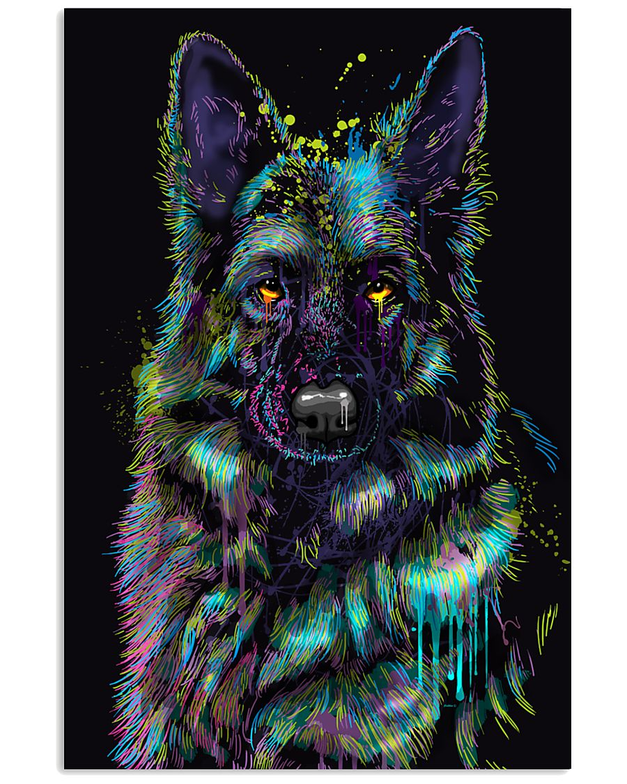 German Shepherd color 24x36 Poster