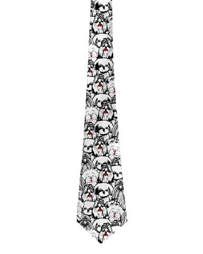 Shih Tzu  tie pattern