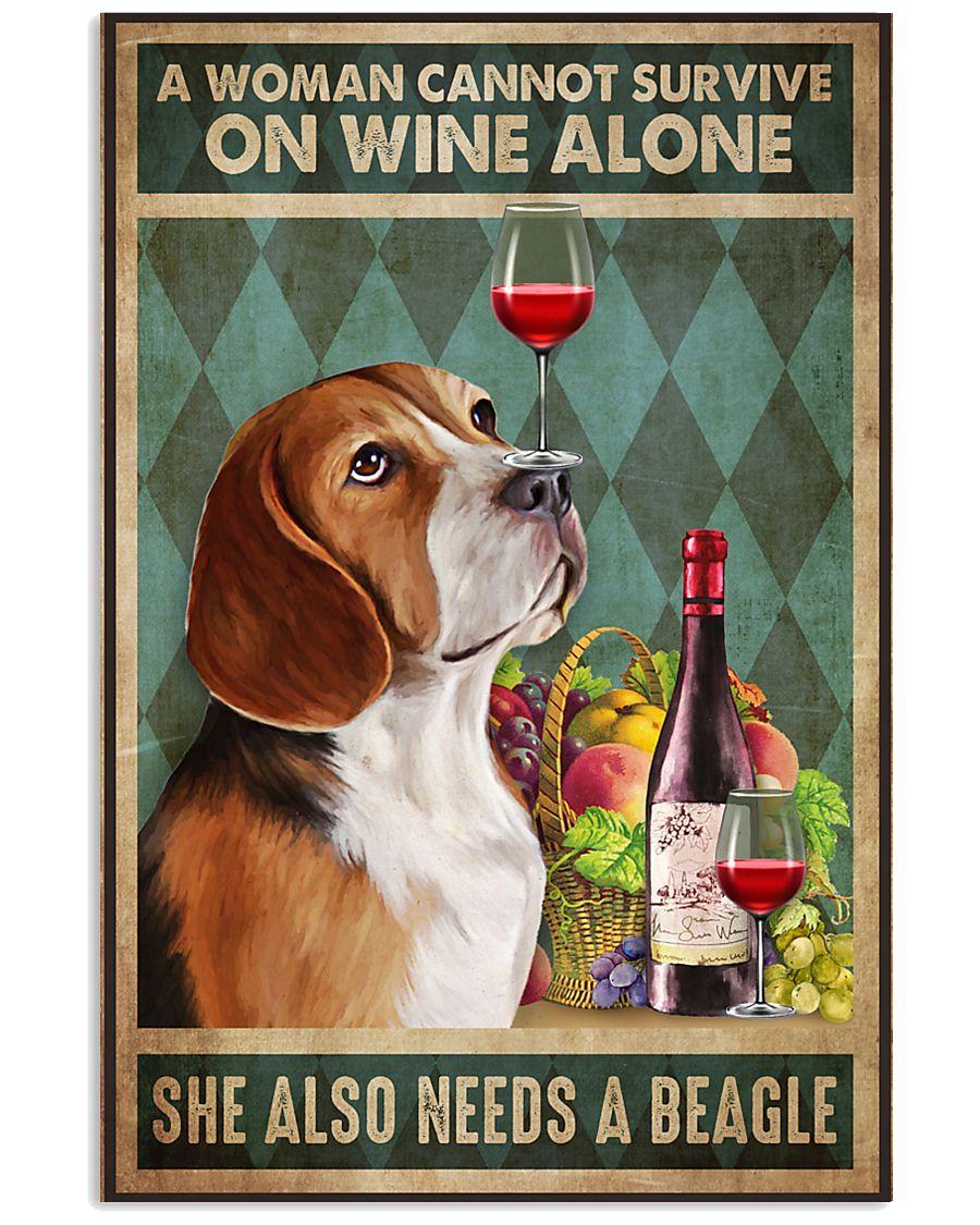Beagle Wine 24x36 Poster