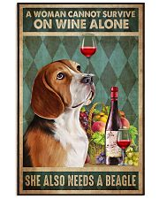 Beagle Wine 24x36 Poster front