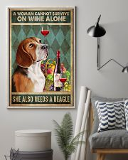 Beagle Wine 24x36 Poster lifestyle-poster-1