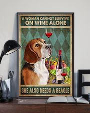 Beagle Wine 24x36 Poster lifestyle-poster-2