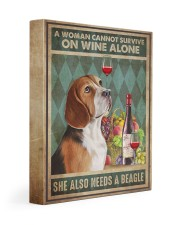 Beagle Wine 11x14 Gallery Wrapped Canvas Prints thumbnail