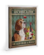 Beagle Wine 11x14 White Floating Framed Canvas Prints thumbnail