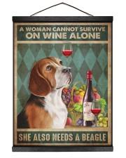 Beagle Wine 16x20 Black Hanging Canvas thumbnail
