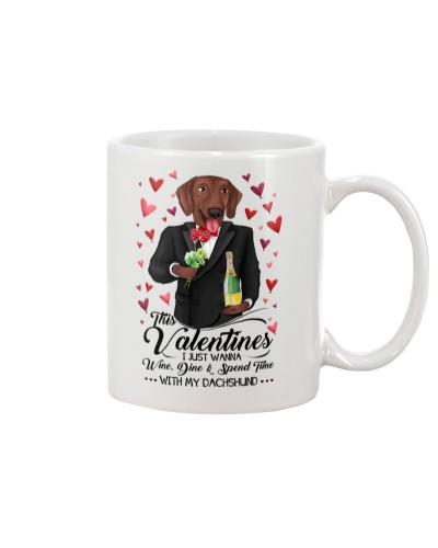Dachshund Valentine Day