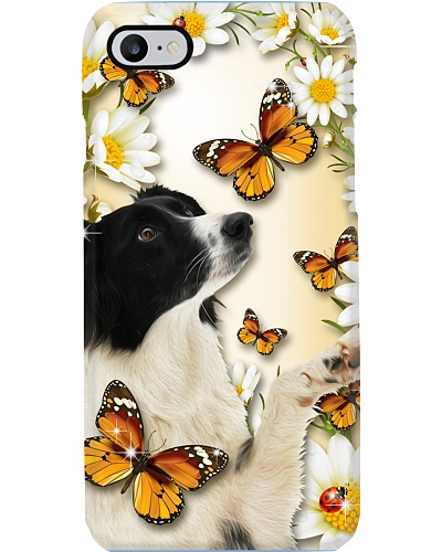 Border collie Flower Butterfly