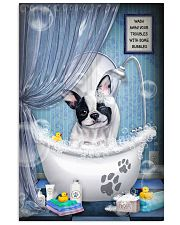 Frenchie Dog Bathtub 16x24 Poster front