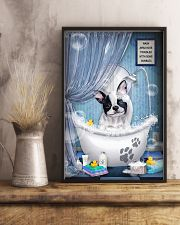 Frenchie Dog Bathtub 16x24 Poster lifestyle-poster-3