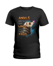 Ferret Angel Wing black Shirt Ladies T-Shirt front