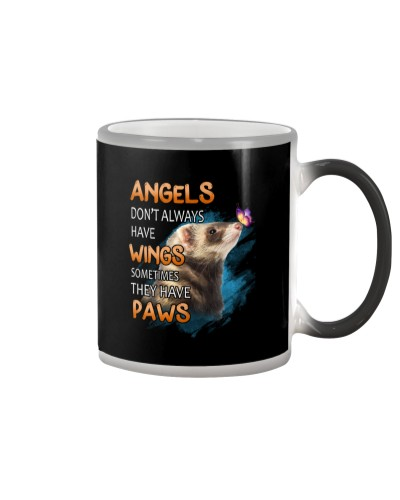 Ferret Angel Wing black Shirt