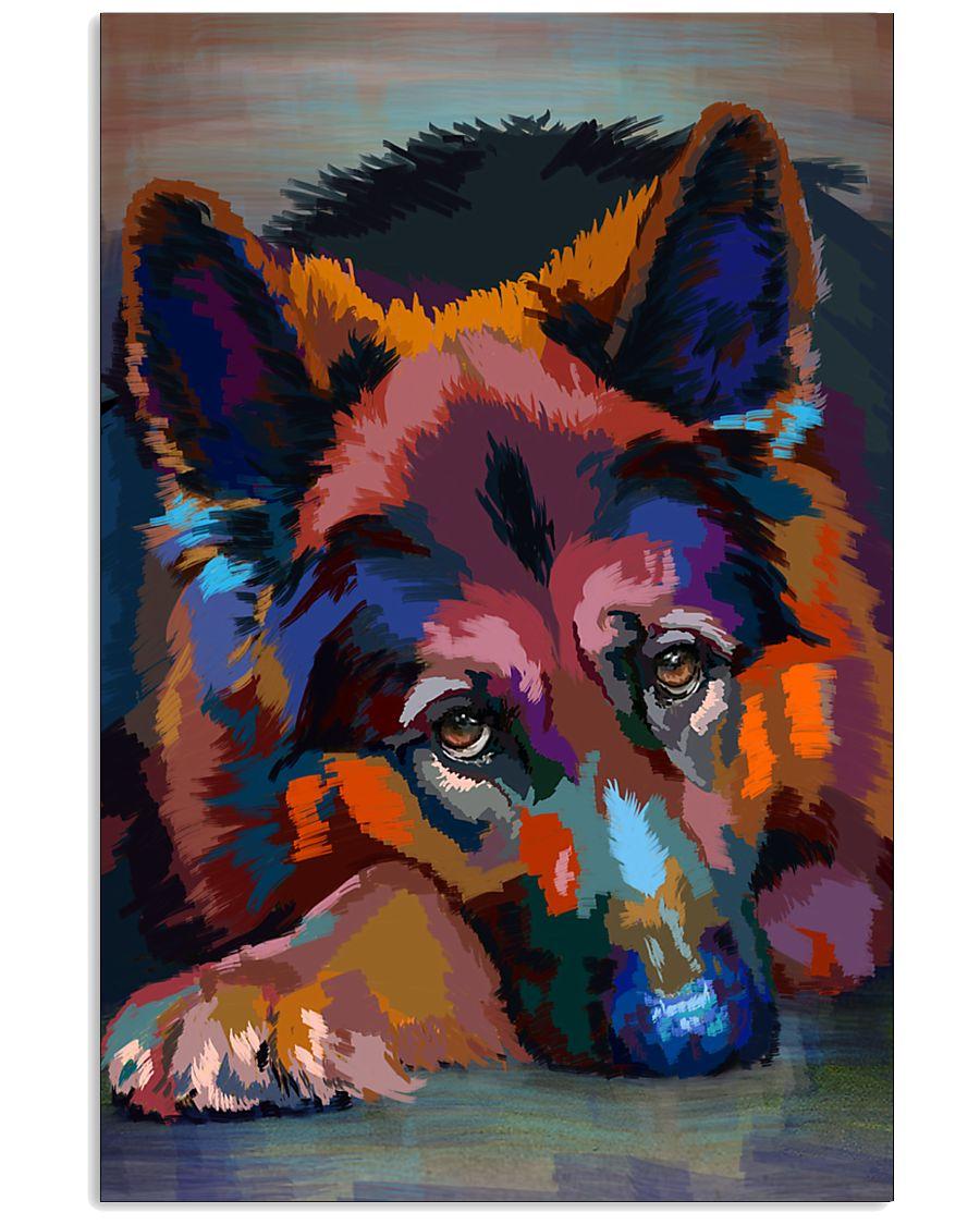 German Shepherd Water Color Art W30 11x17 Poster