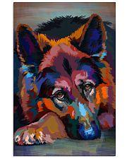 German Shepherd Water Color Art W30 11x17 Poster front
